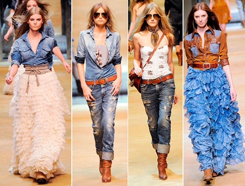 Модный деним весна-лето 2014