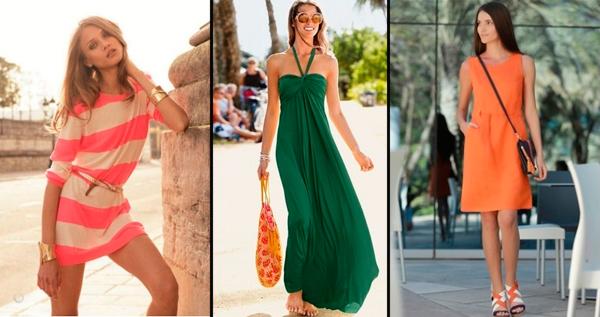 трикотажные платья на лето