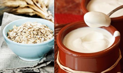 скраб овсянка и йогурт