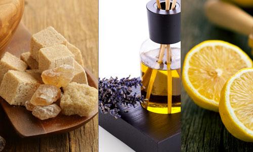 тростниковый сахар лавандовое и лимонное масла