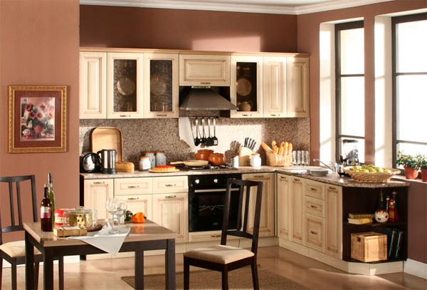как расположить кухонный гарнитур