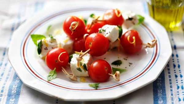 фета с помидорами черри
