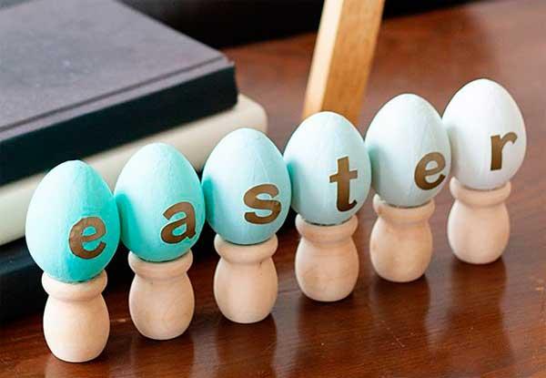 Пасхальные яйца в стиле омбре