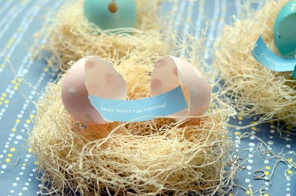 пасхальное яйцо с сообщением