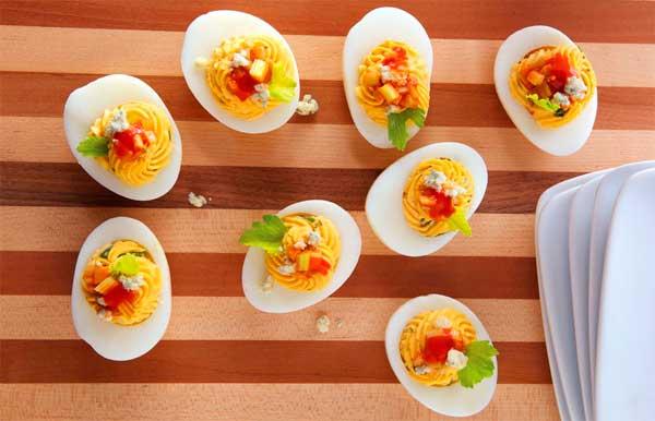 красивые фаршированные яйца