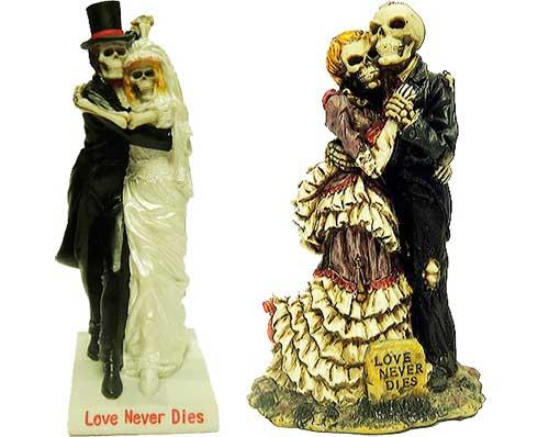 подарочные статуэтки в виде скелетов