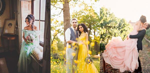 как выбрать цветное свадебное платье