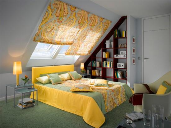 выбрать шторы для мансардного окна