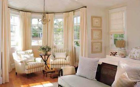 выбрать шторы для эркерных окон