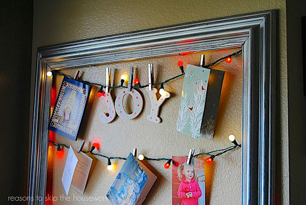 идеи декора с новогодними гирляндами