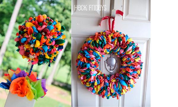 Декор из воздушных шаров своими руками