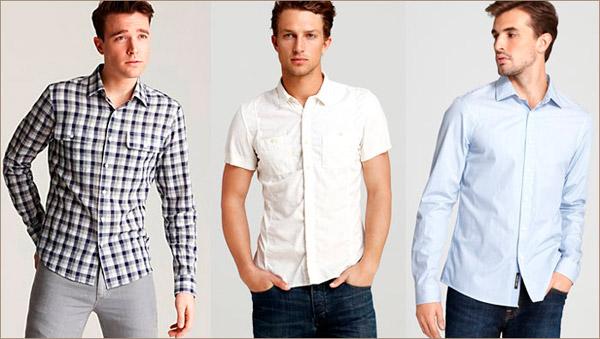 выбрать мужскую рубашку