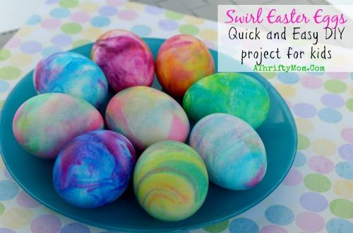 Покраска яиц на Пасху с помощью пенки для бритья или взбитых сливок