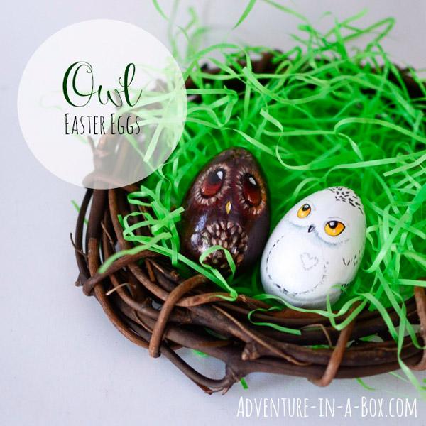 красивые пасхальные яйца с совами