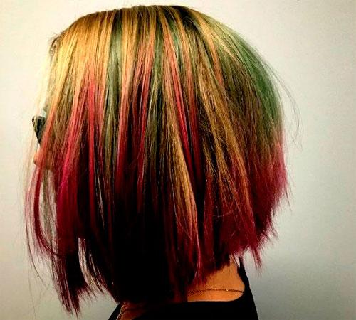арбузное окрашивание волос