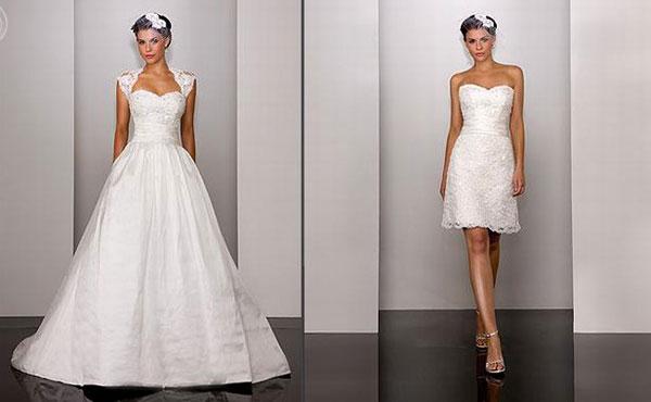 два свадебных платья у невесты