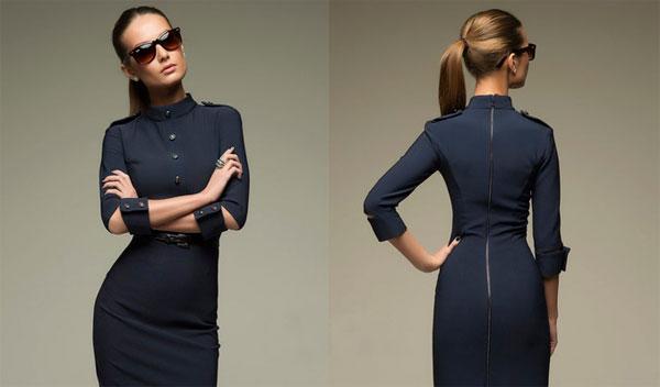 мода на офисные платья