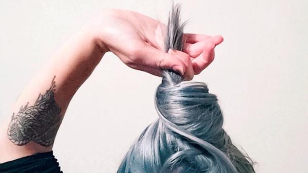 окрашивание волос под джинсы