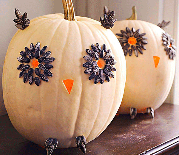 декор из тыкв на Хэллоуин