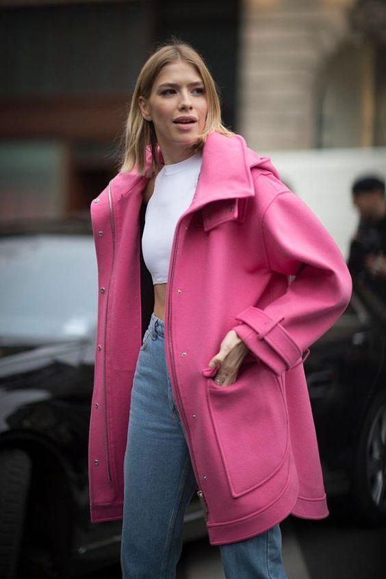 с чем носить розовый цвет