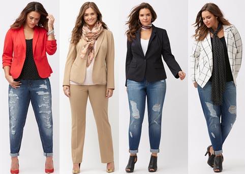 модная одежда для полных