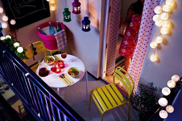 обустроить балкон на лето