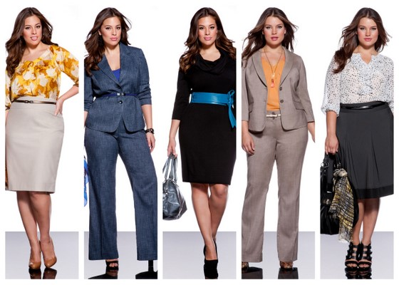 деловой гардероб для полных женщин