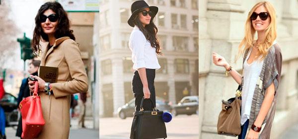 способы носить женскую сумочку