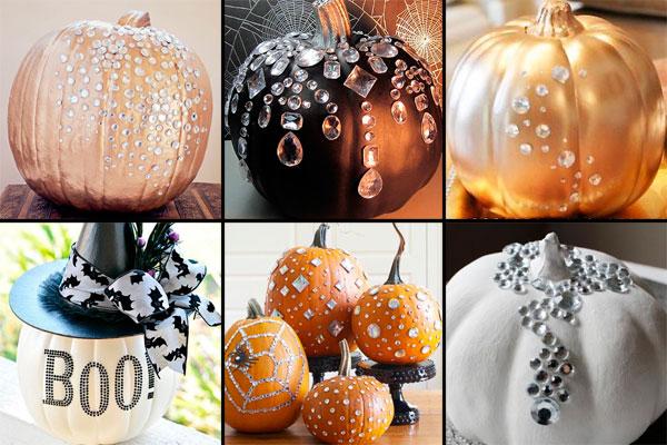 гламурные тыквы на Хэллоуин