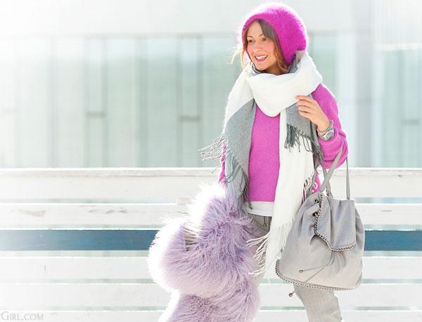 добавить ярких красок в зимний гардероб