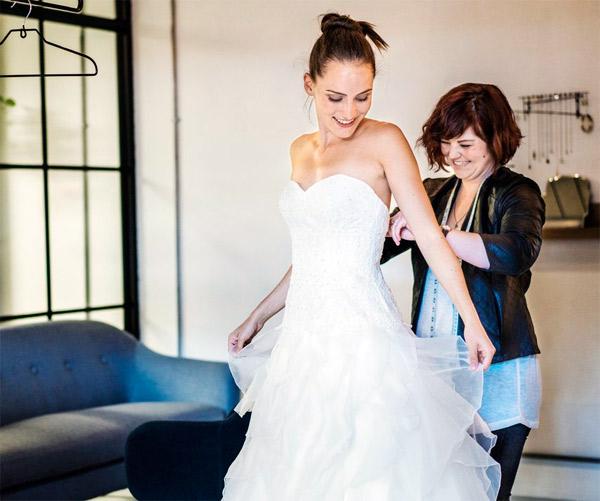 свадебное платье по форме груди