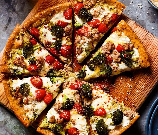 сделать пиццу полезнее