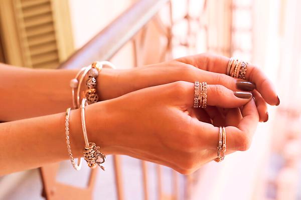 как сочетать браслеты Pandora