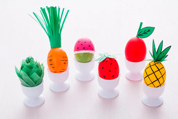 Фрукты и овощи из пасхальных яиц