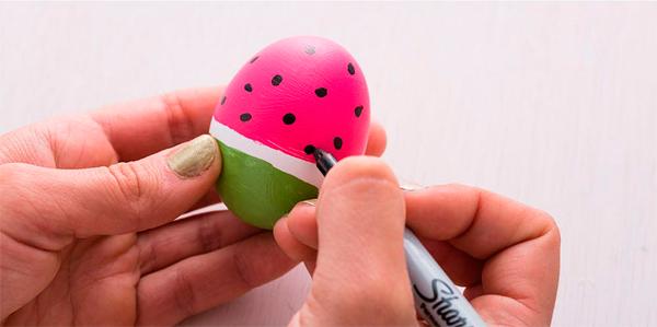 Пасхальные яйца – арбузики