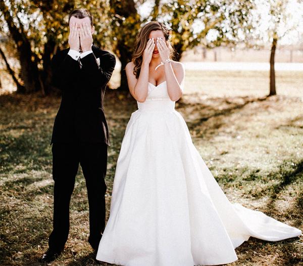 покупка свадебного платья с женихом