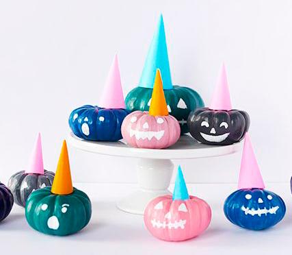 Хэллоуинские тыквы для женской вечеринки