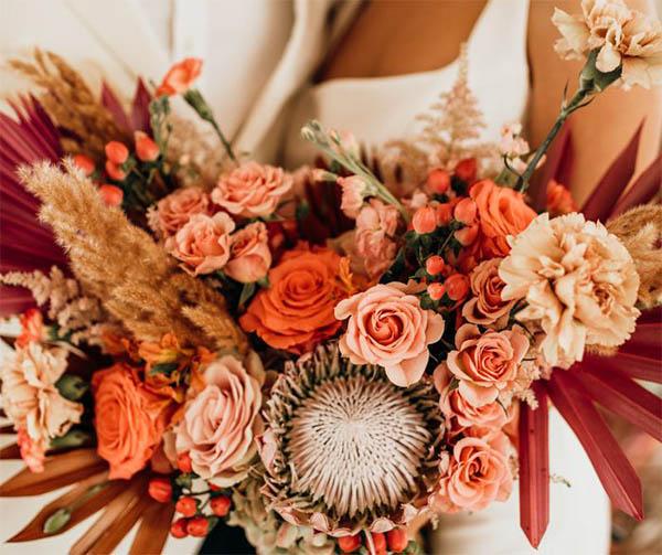 тренды на свадебные букеты 2020