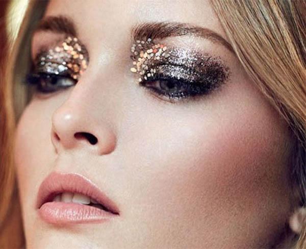 идеи макияжа с глиттером