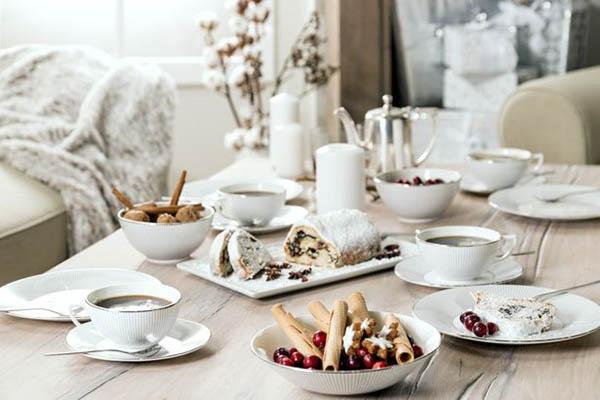 Сервировка стола для кофе