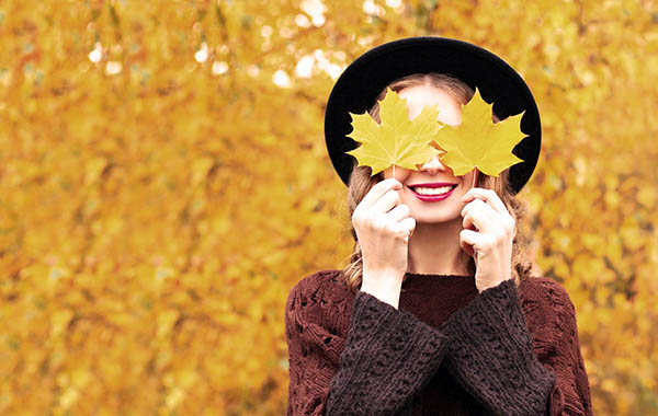 здоровая кожа и волосы осенью
