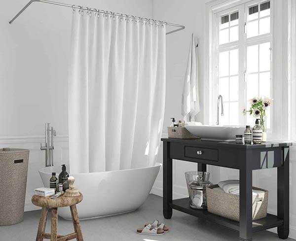 выбрать шторку для ванной
