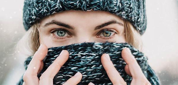 контактные линзы зимой