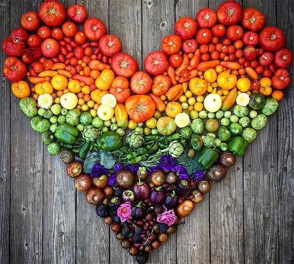 радуга овощей и фруктов