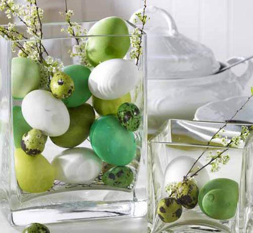 пасхальный декор цветами и зеленью